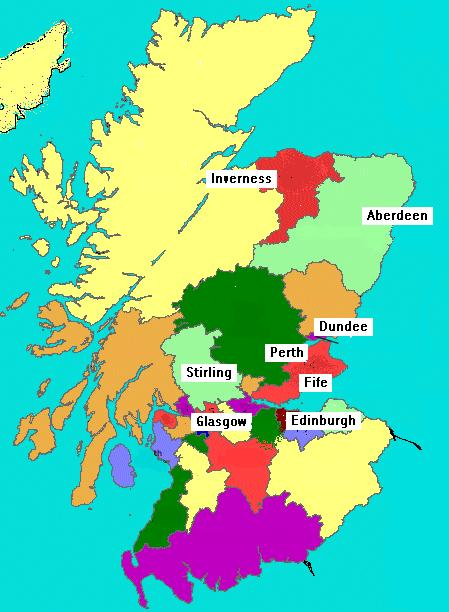 Click on the area of Scotland where you are seeking property to let ....